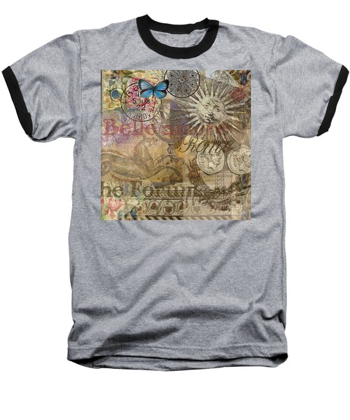 Rome Vintage Italy Travel Collage  Baseball T-Shirt