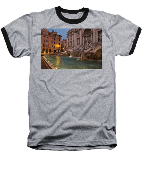 Rome's Fabulous Fountains - Trevi Fountain At Dawn Baseball T-Shirt