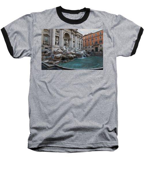 Rome's Fabulous Fountains - Trevi Fountain No Tourists Baseball T-Shirt