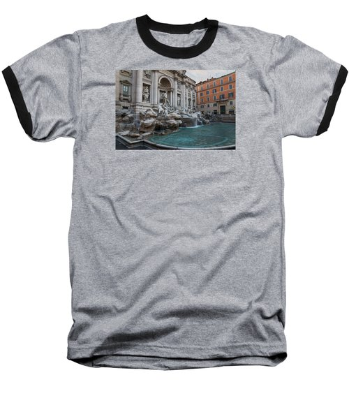 Rome's Fabulous Fountains - Trevi Fountain - No Tourists Baseball T-Shirt