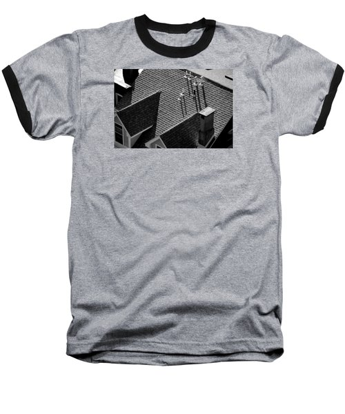 Baseball T-Shirt featuring the photograph Rooftop by John Schneider