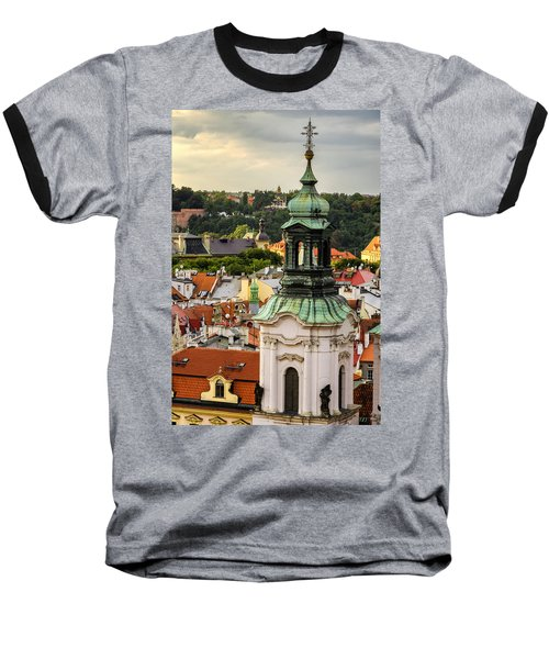 Rooftops Of Prague 1 Baseball T-Shirt