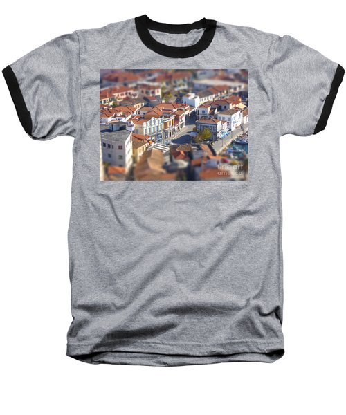 Baseball T-Shirt featuring the photograph Rooftops by Vicki Spindler