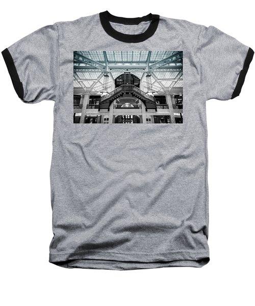 Rookery Building Atrium Baseball T-Shirt