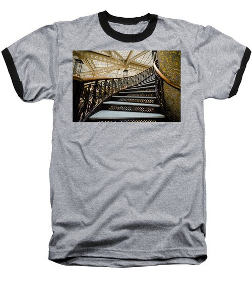 Rookery Building Atrium Staircase Baseball T-Shirt