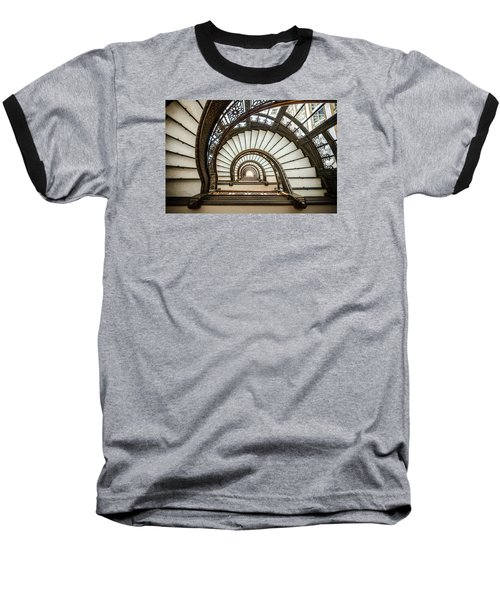 Rookery Building Oriel Staircase Baseball T-Shirt