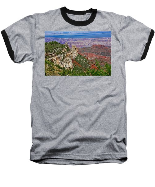 Roosevelt Point Two On North Rim/grand Canyon National Park-arizona   Baseball T-Shirt by Ruth Hager