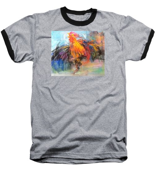 Rooster Baseball T-Shirt by Jieming Wang