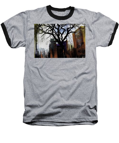Baseball T-Shirt featuring the mixed media Rooted In The Unstable by Terence Morrissey