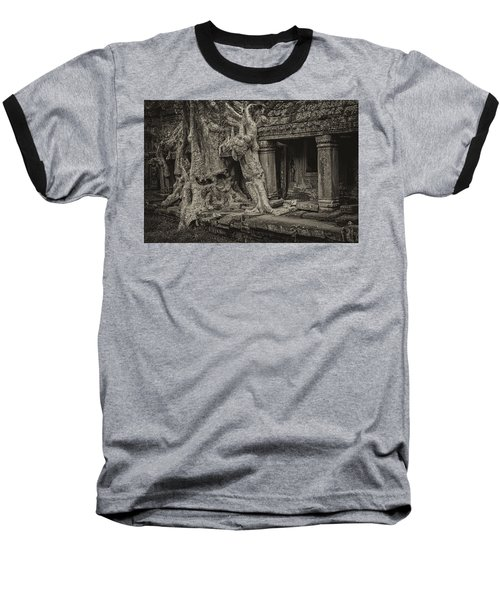 Roots In Ruins 7, Ta Prohm, 2014 Baseball T-Shirt