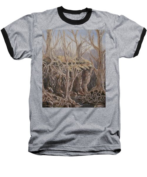 Baseball T-Shirt featuring the painting Roots by Megan Walsh