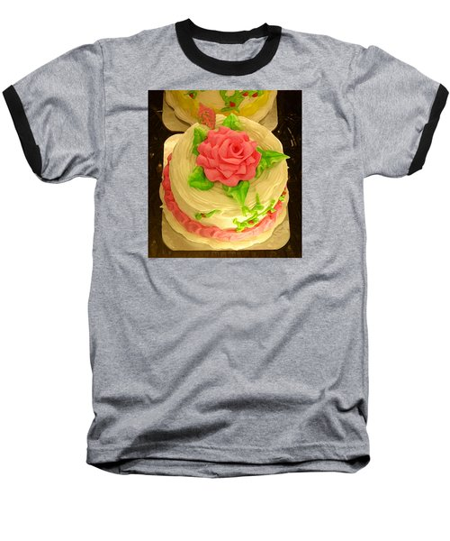 Rose Cakes Baseball T-Shirt