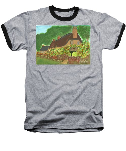 Rose Cottage Baseball T-Shirt by Tracey Williams