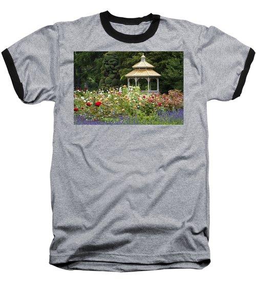 Baseball T-Shirt featuring the photograph Rose Garden Gazebo by Sonya Lang