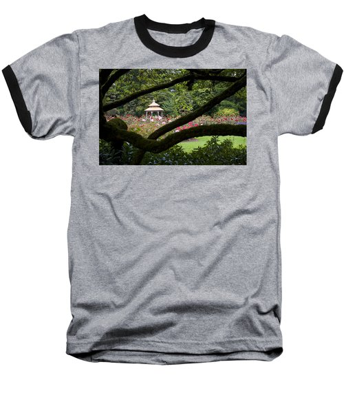 Baseball T-Shirt featuring the photograph Rose Garden Window by Sonya Lang