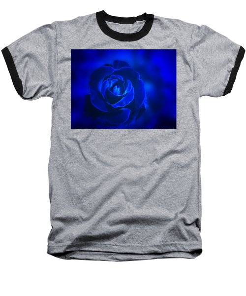 Rose In Blue Baseball T-Shirt