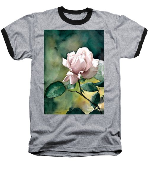 Baseball T-Shirt featuring the painting Lilac Rose  by Greta Corens