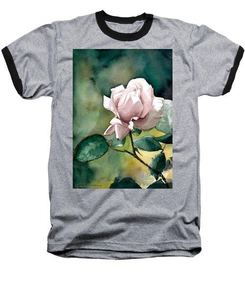 Watercolor Of A Lilac Rose  Baseball T-Shirt