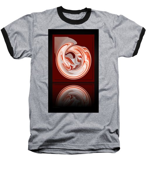 Rose In Orb Baseball T-Shirt