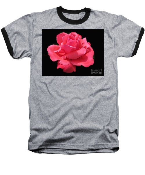 Baseball T-Shirt featuring the photograph Rose Is A Rose by Judy Palkimas