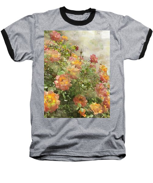 Rose Potpourri Baseball T-Shirt by Natalie Ortiz
