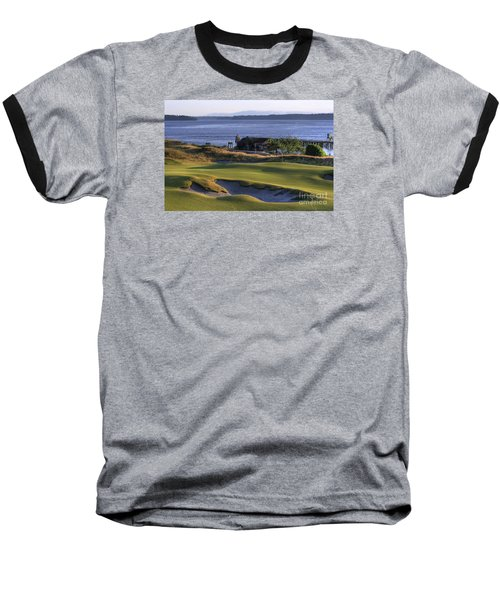 Baseball T-Shirt featuring the photograph Hole 17 Hdr by Chris Anderson
