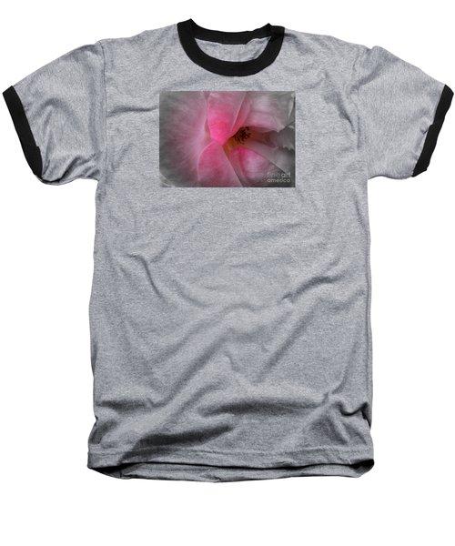 Baseball T-Shirt featuring the photograph Rose Voluptuous by Jean OKeeffe Macro Abundance Art