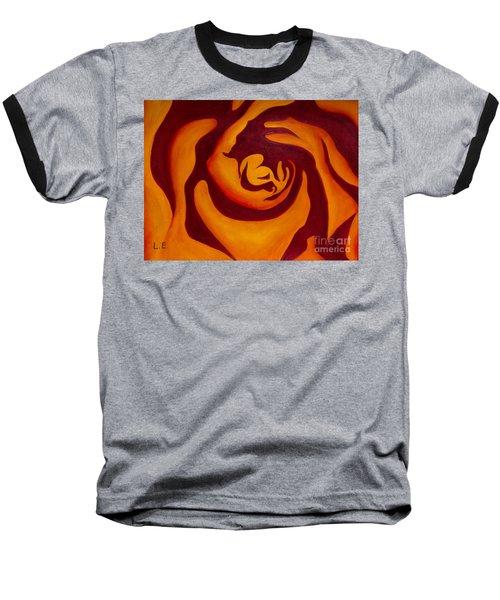 Rose Whirl 2 Baseball T-Shirt