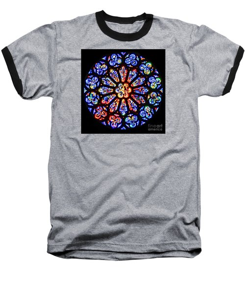 Rose Window Of Grace Cathedral By Diana Sainz Baseball T-Shirt