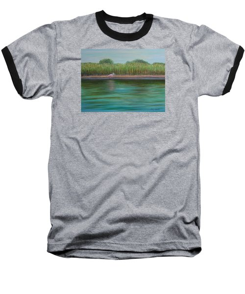 Roseate Spoonbill On East Creek Baseball T-Shirt
