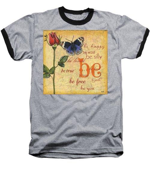 Roses And Butterflies 1 Baseball T-Shirt