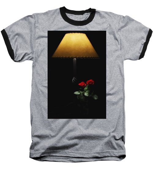 Roses By Lamplight Baseball T-Shirt by Ron White