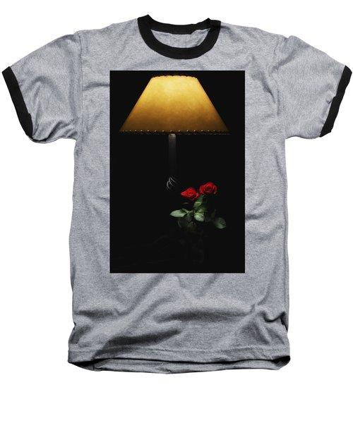 Roses By Lamplight Baseball T-Shirt