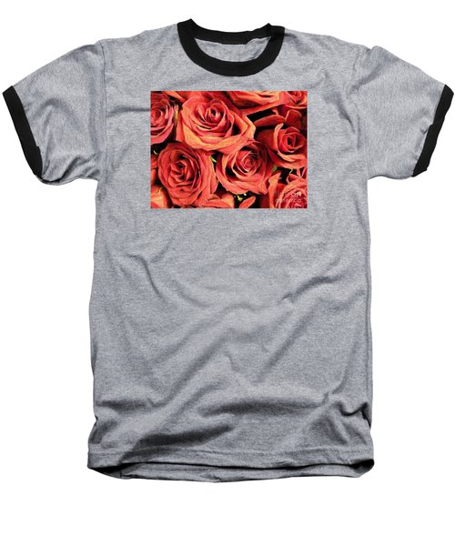 Roses For Your Wall  Baseball T-Shirt by Joseph Baril