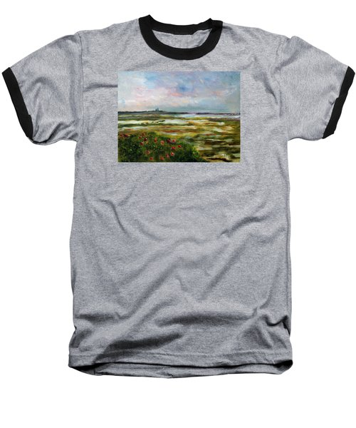 Roses Over The Marsh Baseball T-Shirt