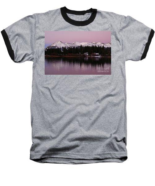 Rosey Lake Reflections Baseball T-Shirt