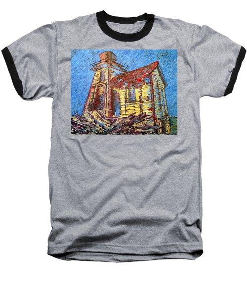 Ross Island Lighthouse Baseball T-Shirt