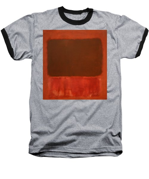 Rothko's Mulberry And Brown Baseball T-Shirt