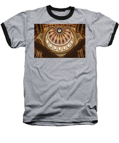 Rotunda Dome On Wings Baseball T-Shirt by Joseph Skompski