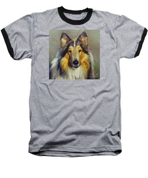 Rough Collie Baseball T-Shirt