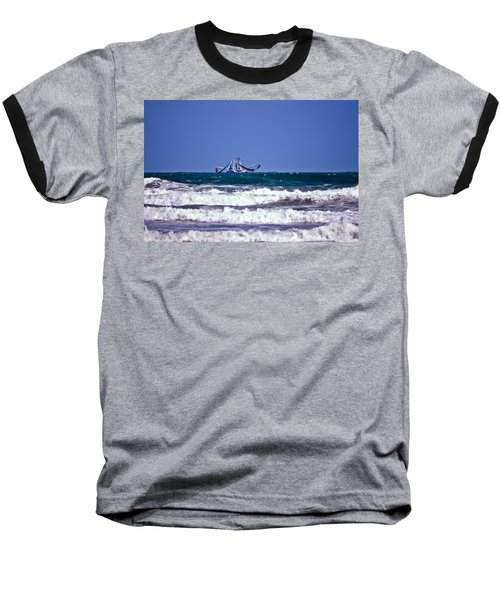 Baseball T-Shirt featuring the photograph Rough Seas Shrimping by DigiArt Diaries by Vicky B Fuller