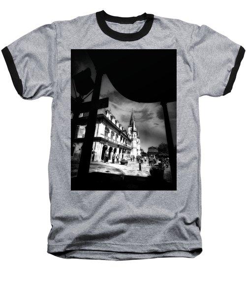 Round Corner Baseball T-Shirt by Robert McCubbin