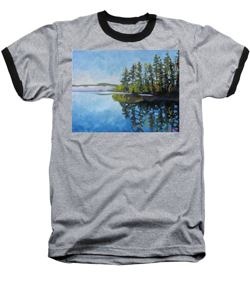 Round Lake Mirror Baseball T-Shirt