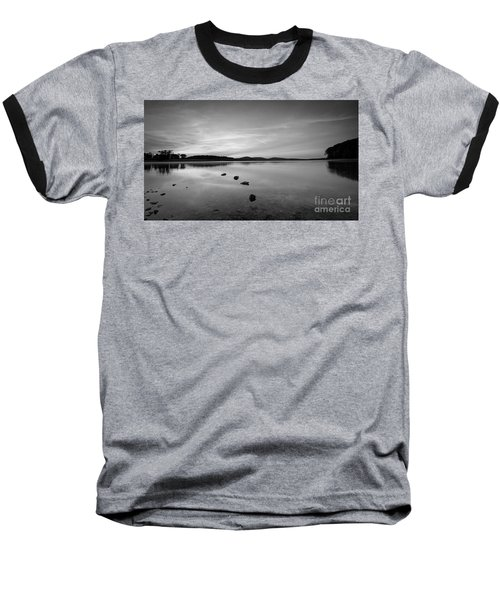 Round Valley At Dawn Bw Baseball T-Shirt by Michael Ver Sprill