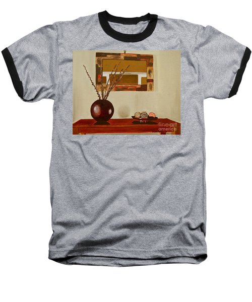 Round Vase Baseball T-Shirt by Laura Forde