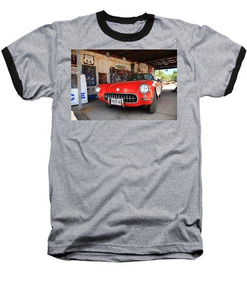 Route 66 Corvette Baseball T-Shirt