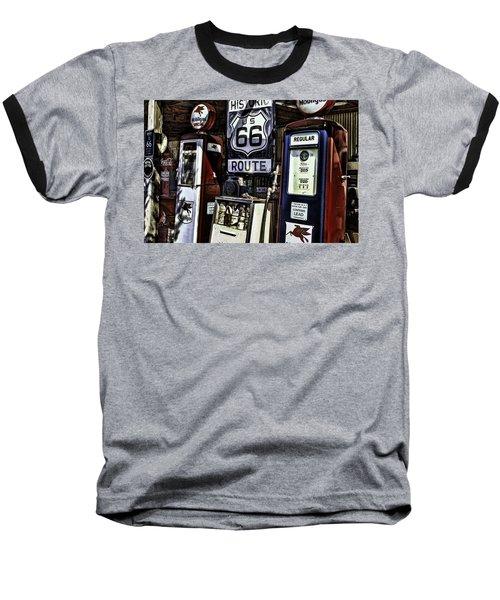 Baseball T-Shirt featuring the painting Route 66 by Muhie Kanawati