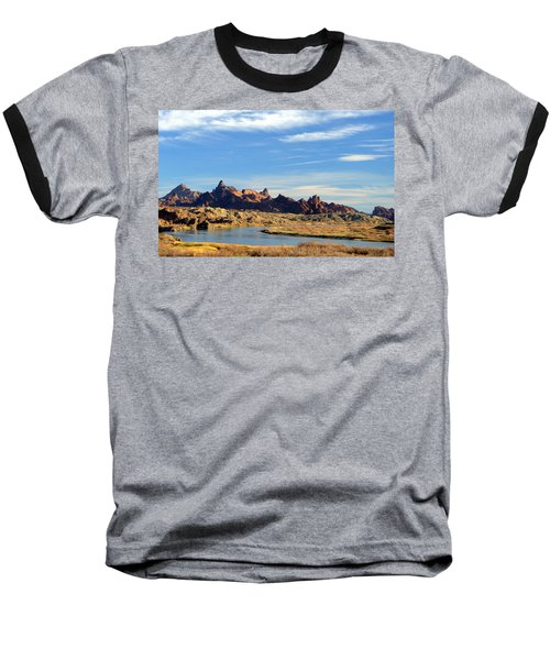 Baseball T-Shirt featuring the photograph Route 66 Needles Mtn Range Two  Sold by Antonia Citrino