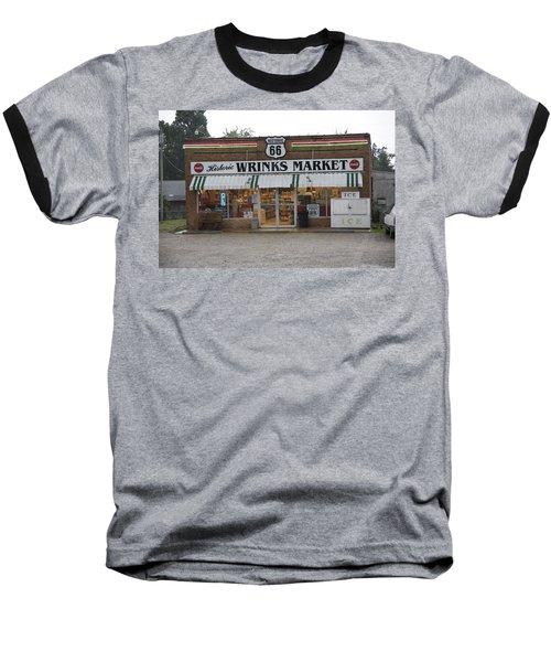 Route 66 - Wrink's Market Baseball T-Shirt