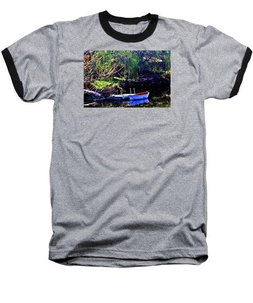 Row Boat At Dock Baseball T-Shirt